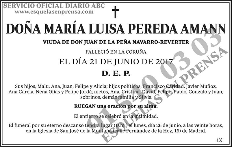 María Luisa Pereda Amann